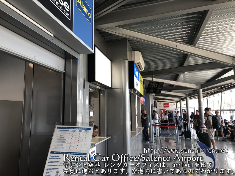 Brindisi airport rental car office